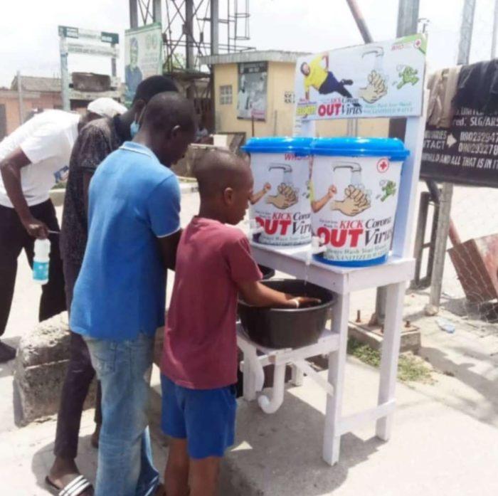 Desmond Elliot lagos hand washing