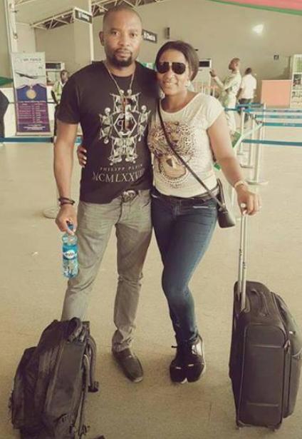 Queen Nwokoye and husband