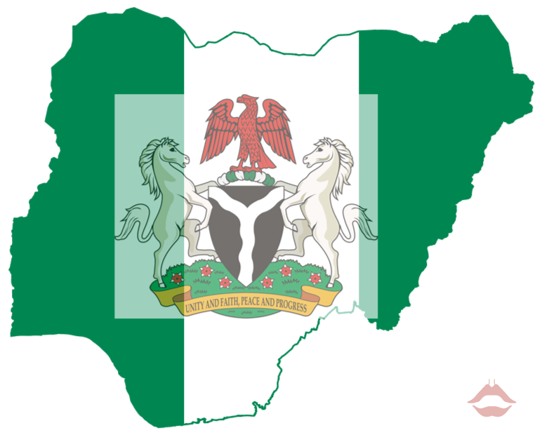 Map and Coat of Arms of Nigeria