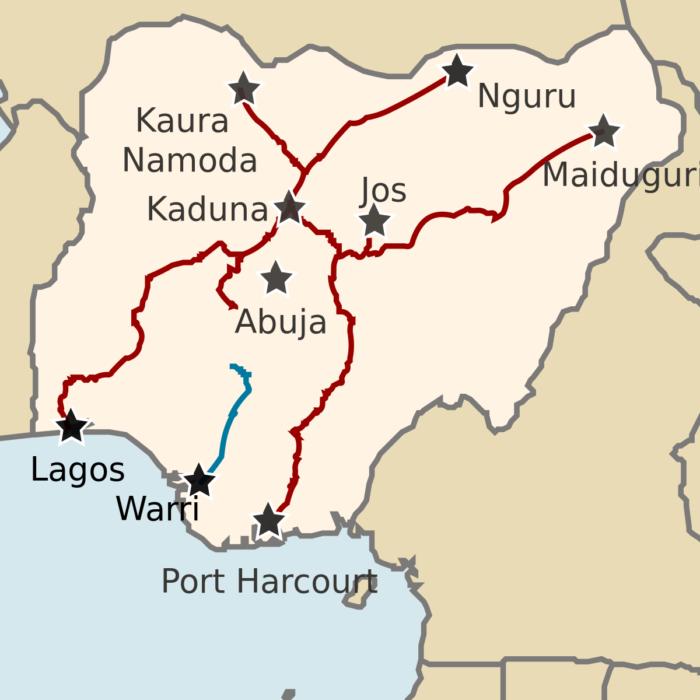 nigerian railway map