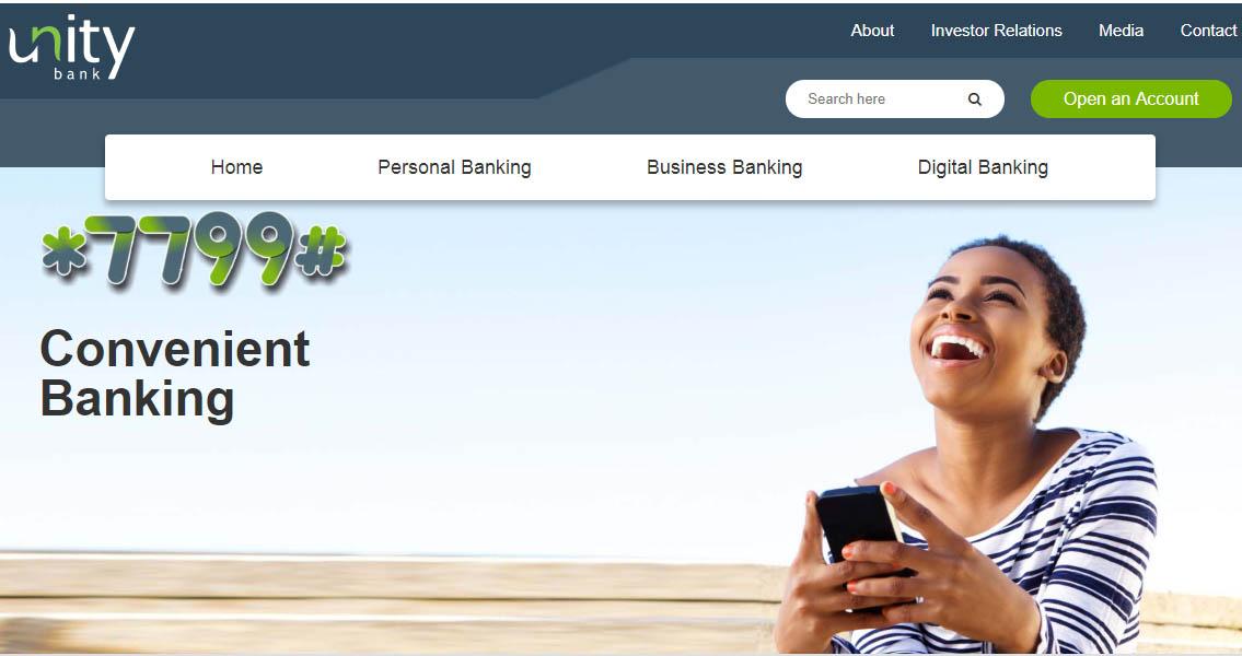 unity bank online