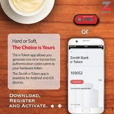 Zenith Internet Banking App Token.