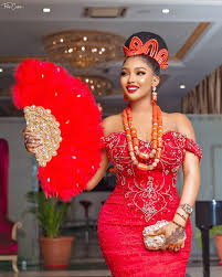 Igbo Traditional Wedding Attire For The Bride.