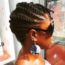 Nigerian Virgin Hairstyle. Rope twist Bang. Side