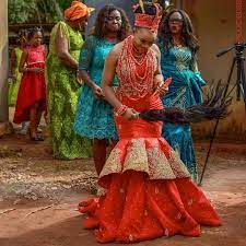 First Outing Igbo Traditional Wedding Attire For The Bride.