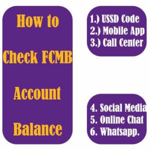 How to check fcmb account balance. All you need about fcmb ussd code