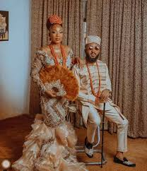 Igbo Traditional Wedding Attire For Both The Bride And The Groom.