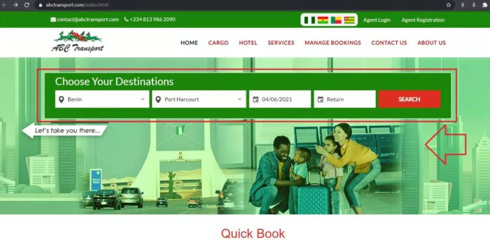 abc transport how to book