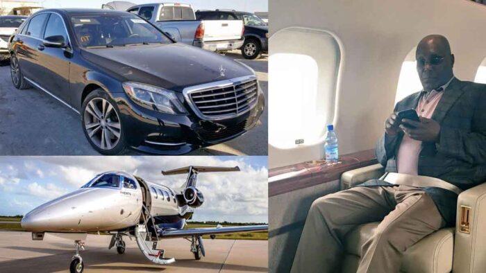 Atiku Abubakar, His car and Private Jet.