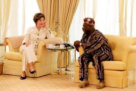 Obasano With Hillary Clinton